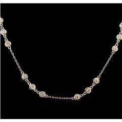 2.01ctw Diamond Necklace - 14KT White Gold