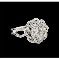 14KT White Gold 1.37ctw Diamond Ring