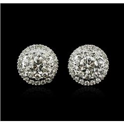 14KT White Gold 1.00ctw Diamond Stud Earrings