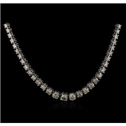 14KT White Gold 11.55ctw Diamond Necklace