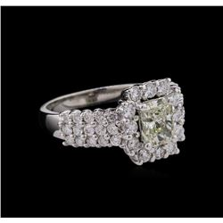 1.90ctw Diamond Ring - 14KT White Gold