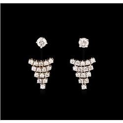 0.75ctw Diamond Earrings - 14KT White Gold