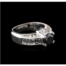 3.71ctw Fancy Black Diamond Ring - 14KT White Gold