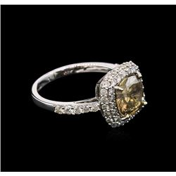 2.84ctw Fancy Brown Diamond Ring - 14KT White Gold