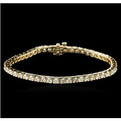 14KT Yellow Gold 6.06ctw Diamond Tennis Bracelet