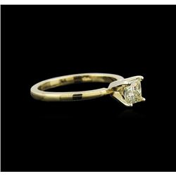 0.55ct Yellow Diamond Solitaire Ring - 18KT Yellow Gold