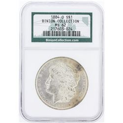 1884-O NGC MS62 Binion Collection Morgan Silver Dollar