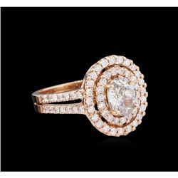 1.76ctw Diamond Ring - 14KT Rose Gold