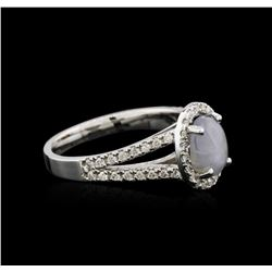 18KT White Gold 1.50ct Star Sapphire and Diamond Ring