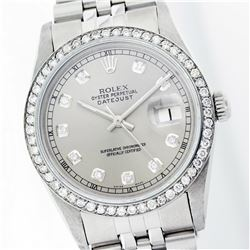 Rolex Stainless Steel 1.00ctw Diamond DateJust Watch
