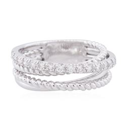 14KT White Gold 0.32ctw Diamond Ring