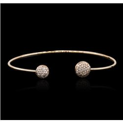 14KT Rose Gold 0.54ctw Diamond Bangle Bracelet