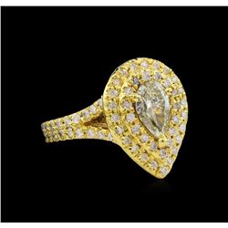 2.09ctw Diamond Ring - 14KT Yellow Gold