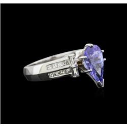 2.75ct Tanzanite and Diamond Ring - Platinum