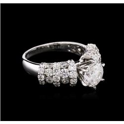 3.35ctw Diamond Ring - 18KT White Gold