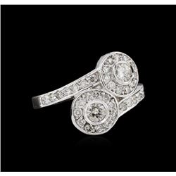 14KT White Gold 0.62ctw Diamond Ring