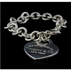 Tiffany & Co. Heart-Tag Bracelet - Silver