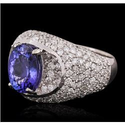14KT White Gold 2.69ct Tanzanite and Diamond Ring
