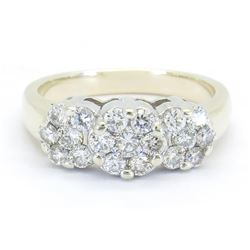1.05ctw Diamond Ring - 14K White Gold