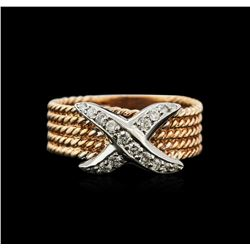 0.25ctw Diamond Ring - 14KT Two-Tone Gold