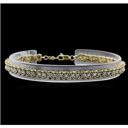 1.00ctw Diamond Tennis Bracelet - 10KT Yellow Gold
