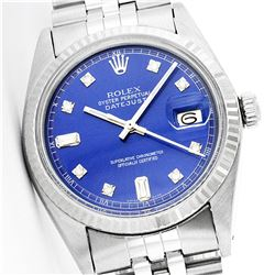 Rolex Stainless Steel Baguette Diamond DateJust Men's Watch