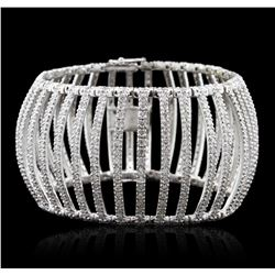18KT White Gold 12.60ctw Diamond Bracelet