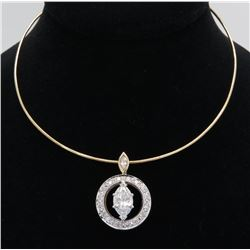2.71ctw Diamond Necklace - 14KT Two-Tone Gold