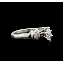 0.50ctw Diamond Ring - Platinum
