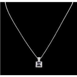 2.14ct Fancy Black Diamond Pendant With Chain - 14KT White Gold