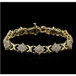 2.00ctw Diamond Bracelet - 10KT Yellow Gold