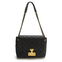 Marc Jacobs Large Single Black Baroque Leather Bag