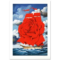 Red Rose Ship by Rafal Olbinski