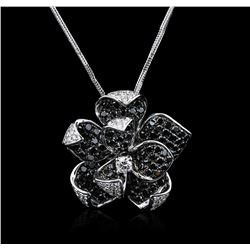 14KT White Gold 1.44ctw Diamond Pendant and Chain