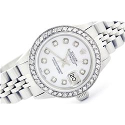 Rolex Stainless Steel 1.00ctw Diamond DateJust Ladies Watch