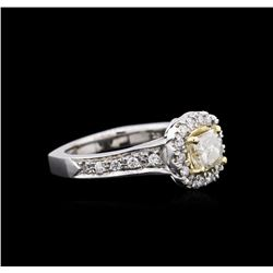 1.25ctw Diamond Ring - 14KT Two-Tone Gold