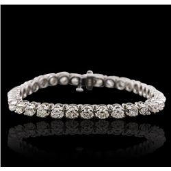 14KT White Gold 7.23ctw Diamond Tennis  Bracelet