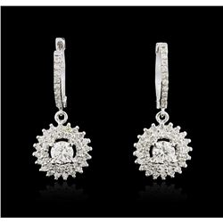 14KT White Gold 1.67ctw Diamond Earrings