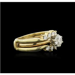 14KT Yellow Gold 1.65ctw Diamond Ring and Guard