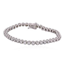 14KT White Gold 2.23ctw Diamond Tennis Bracelet
