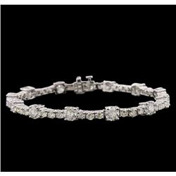 14KT White Gold 9.93ctw Diamond Tennis Bracelet