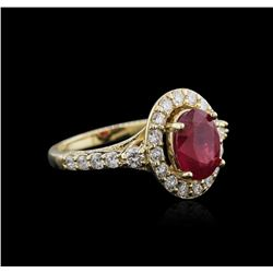 14KT Yellow Gold 2.35ct Ruby and Diamond Ring