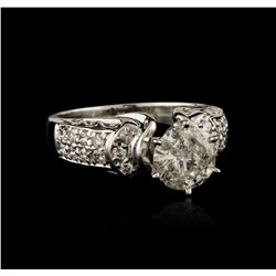14KT White Gold 1.58ctw Diamond Ring