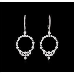 2.40ctw Diamond Earrings - 18KT White Gold