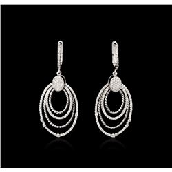 14KT White Gold 1.30ctw Diamond Earrings