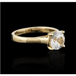 14KT Yellow Gold 1.76ct White Sapphire Ring