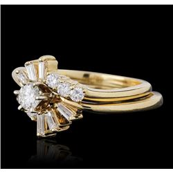 14KT Yellow Gold 0.69ctw Diamond Wedding Set