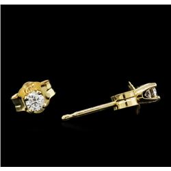 0.10ctw Diamond Stud Earrings - 14KT Yellow Gold