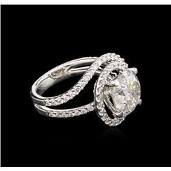 5.03ctw Diamond Ring - 18KT White Gold