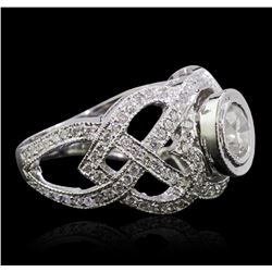 14KT White Gold 1.81ctw Diamond Ring